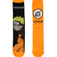 Naruto Shippuden Orange Crew Socks 2 Pack