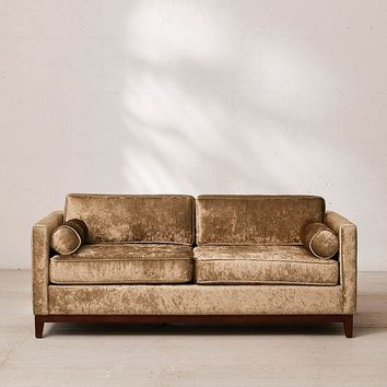 Piper Petite Crushed Velvet Sofa   Urban Outfitters