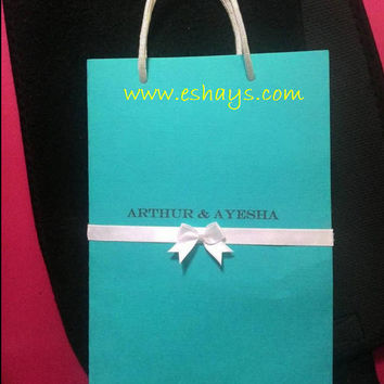 Custom Tiffany Themed Invitations- Wedding Invitations