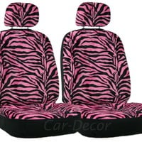 Zebra Stripe Pink Black LB Car Seat Cover 2