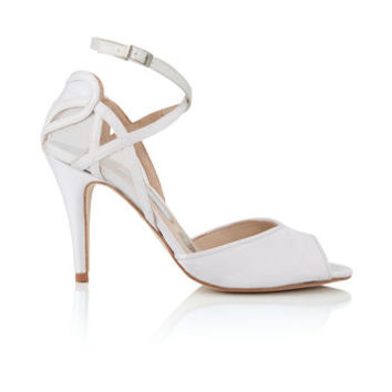 April Satin Sandals With Heart Back Detail