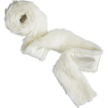 Faux Fur Garland - White