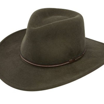 Stetson Gallatin Crushable Wool Felt Hat - Sage - S