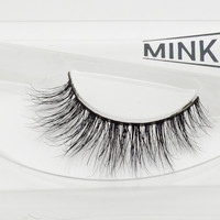 Visofree 3D Mink Eyelashes Upper Lashes 100% Real Mink Strip Eyelashes Handmade Crossing Mink Eye Lashes Extension A13-JM