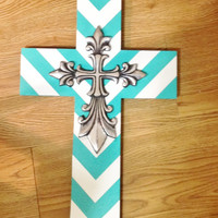 CHEVRON DESIGN Cross Decor