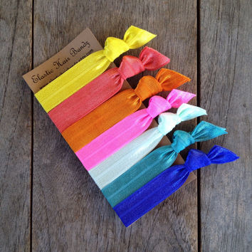 The Penelope Elastic Hair Ties - Ponytail Holder Collection by Elastic Hair Bandz on Etsy
