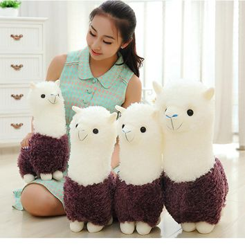 Cute Alpaca Stuffed Animals Toys Soft Pluche Stuffe Speelgoed Birthday Gift For Kids Stuffed Wedding Plush Toy Pillow 70C0331