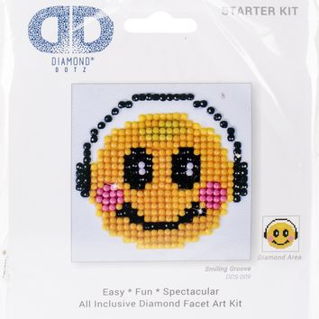 "Smiling Groove Diamond Dotz Diamond Embroidery Facet Art Kit 4.75""X4.75"""