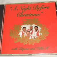 A Night Before Christmas With Kapena & Willie K Hawaiian Slack Key Guitar Music Holiday Carols Songs 1993 KDE1079 Rare CD Kaneohe Hawaii