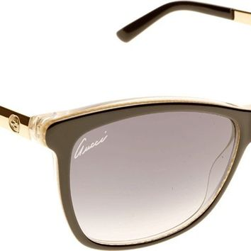 Gucci Sunglasses - 3675 / Frame: Black Embossed Gold Lens: Gray Gradient-GG3675S04WH
