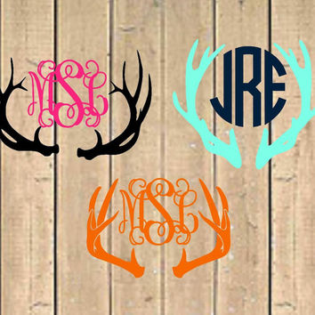 Deer Antler - Country Monogram Decal