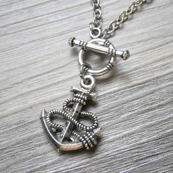 anchor toggle necklace