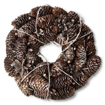 Smith & Hawken™ Pinecone Mini Wreath - 11""