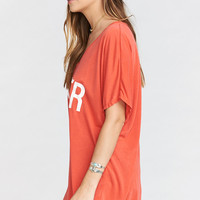 Benji Tunic Tee ~ Burger Graphic