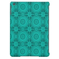 Vintage Geometric in Teal Green Cover For iPad Air