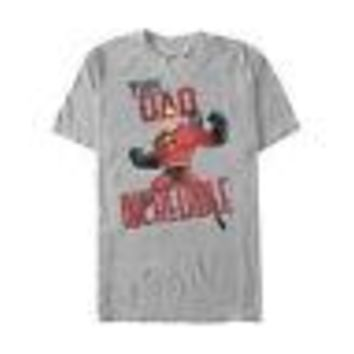 The Incredibles This Dad Disney Pixar Licensed Adult Unisex T-Shirts - Grey