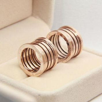 Classic Spring Titanium Steel Rose Gold Ring, Rose Gold Couple Ring Men and Women Ring   171206