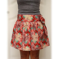ON SALE Tribal Mini Skirt, Glamour fashion look with sash belt