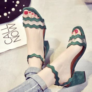 Beautiful Zig Zag Ankle Strap Heels