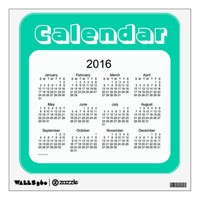 2016 Aqua Marine Calendar by Janz Wall Decal