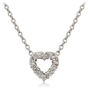 Alannah's Exquisite Imitation Diamond Heart Necklace