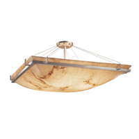 Justice Design Group FAL-9781-25-NCKL LumenAriad Nickel Three-Light 18-Inch Wide Square Semi-Flush Bowl with Ring