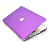 Worldshopping Frost Matte Surface Rubberized Hard Shell Case Cover for 13-Inch A1278 Aluminum Unibody MacBook Pro - Purple , Free Accessory