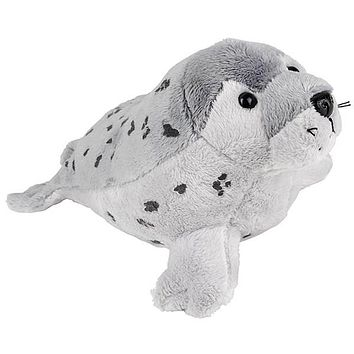 9 Inch Gray Spotted Seal Stuffed Animal Plush Zoo Animal Friend Collection