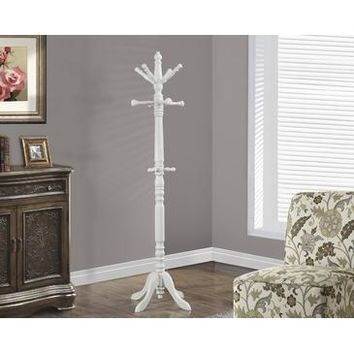 Monarch Specialties Antique White Traditional Solid Wood Coat Rack I 2013