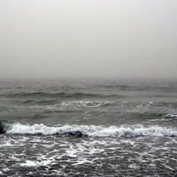 Into the Abyss - Photograph Print, Light Gray Coastal Fog Seascape Beach Surf Decor Wall Art Hanging. In 8x10 / 11x14 / 16x20 / 20x30 Inches