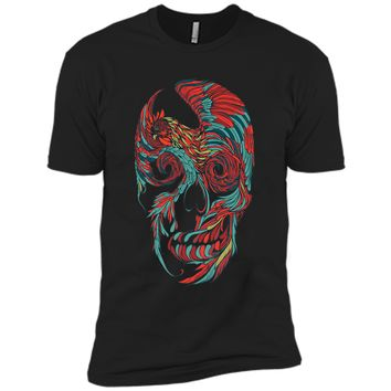 Amiable Rooster Skull Tattoo 2017 T Shirt