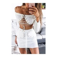 London Lace Up Set