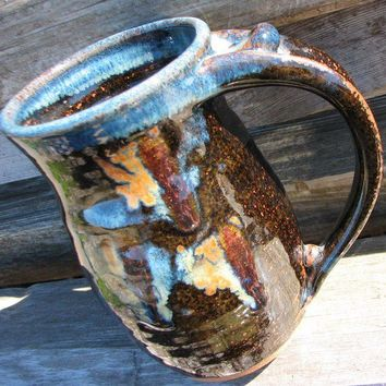 Autumn Pottery Mug Midnight Garden by claycoyote on Etsy
