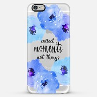 collect moments floral blue- transparent iPhone 6 Plus case by Sylvia Cook | Casetify
