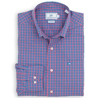 Savannah Check Sport Shirt in Dark Pink by Southern Tide