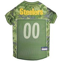 Pittsburgh Steelers Pet Camo Jersey