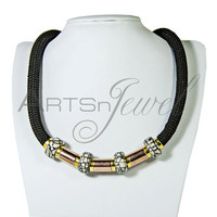 Statement necklace with beads