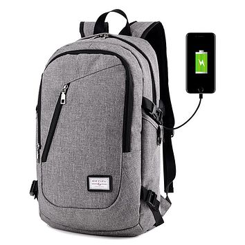 HH Tech Smart Backpack With a USB jack 14 Inch Computer Bag Nylon Pack