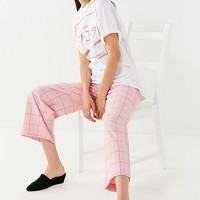 Just Female Valeria Checkered Wide-Leg Pant | Urban Outfitters