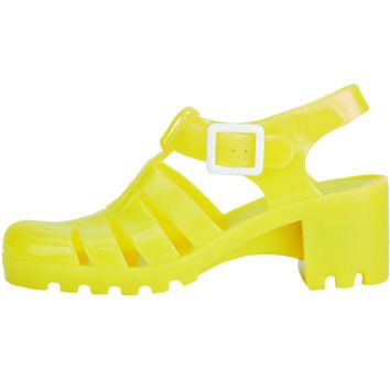 YELLOW JELLY SANDALS