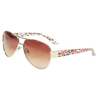 Kiss Print Aviator Sunglasses | Wet Seal