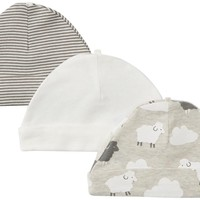 Carter's Baby Boys' 3 Pack Caps (Baby)