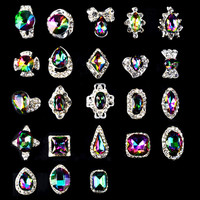 5pcs/pack New High Quality AB Rhinestone Alloy Nail Art Decorations Glitter Charm 3D Nail Jewelry DIY Manicure Supplies