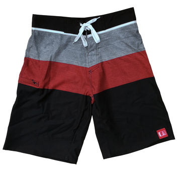 Charger Stretch Boardshort Red/Grey