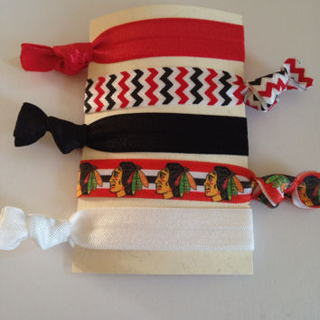 Chicago Blackhawks Hair Tie Set