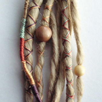 Custom Dreads Hair Wraps & Beads Bohemian by PurpleFinchStore