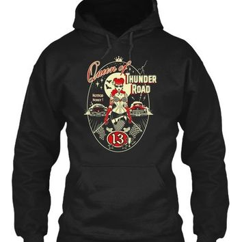 Queen of Thunder Road Rockabilly Pinup Hoodie Sweatshirt