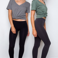 Like A Friend Leggings Set - Black & Charcoal