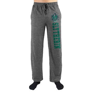 Harry Potter Hogwarts Slytherin House Print Mens Loungewear Lounge Pants