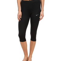 Nike Dri-Fit™ Essentials Capri Black/Black/Black/Reflective Silver - Zappos.com Free Shipping BOTH Ways